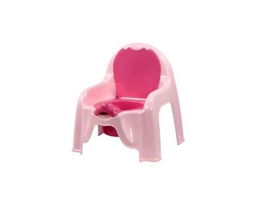 Горшок-стульчик  розовый М1528