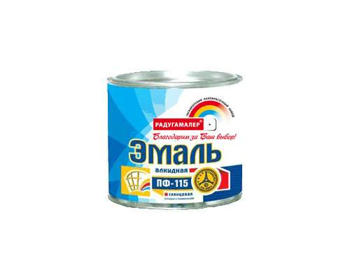 Эмаль ПФ-115 салатная 0,9кг (Радуга)