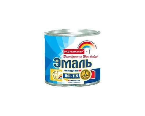 Эмаль ПФ-115 св.голубая 1,9кг (Радуга)