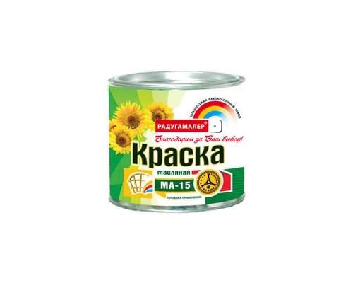 Краска МА-15 желтая 0,9кг (Радуга)