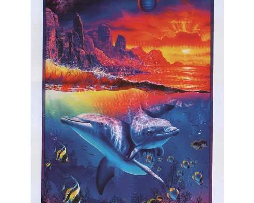 Фотообои глянц. Дельфины 134*201 (Тула)