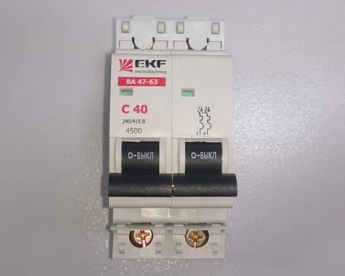 Автоматический выключатель 2п 40А С 4,5кА EKF