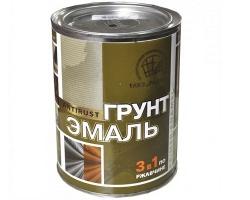 Грунт-эмаль 3-в-1 Красно-коричневая 0,9кг (Радуга)