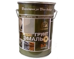 Грунт-эмаль 3-в-1 Красно-коричневая 6,0кг (Радуга)