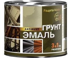 Грунт-эмаль 3-в-1 Красно-коричневая 1,9кг (Радуга)