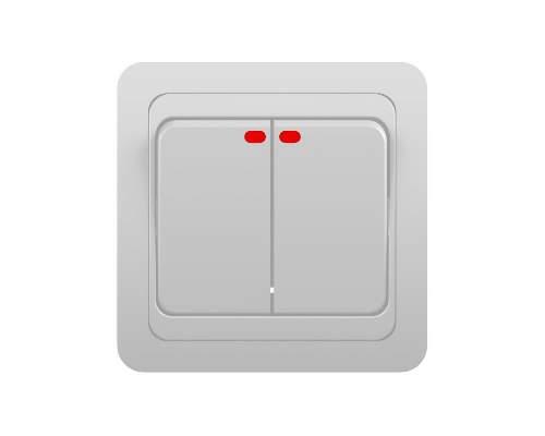 Выключатель Классик 2123 (2 кл, скр/пр, с инд)