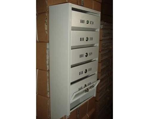 Ящик почтовый 5 секций Альянс-Люкс с замком