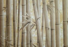 Пленка самокл. 09-1B бамбук св. коричн. 45см* 8м