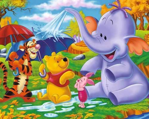 Фотообои VIP Веселый слон 268*196