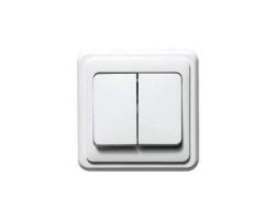 Выключатель LEDARD 8614 (2 клавиши, скр/пр)