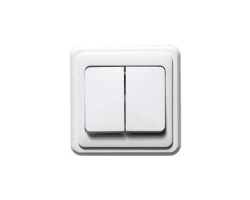 Выключатель Sunny 5023 (2 клавиши, скр/пр)