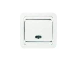 Выключатель Sunny 5121 (1 кл, скр/пр, с инд)