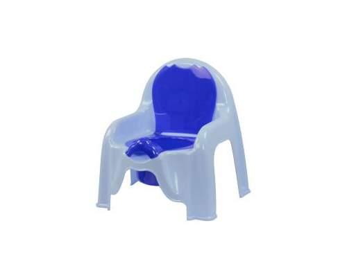 Горшок-стульчик  голубой М1326