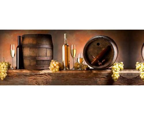 Кухонный фартук Белое вино 600*3000*1,5мм