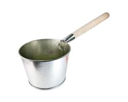 Ковш для бани оцинк. 3,5л дерев. ручка