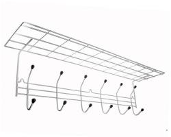 Вешалка для одежды 6 крючков с полкой 07С хром
