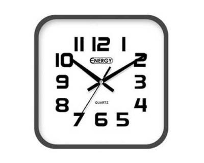 Часы настенные кварцевые ENERGY ЕC- 08 квадратные