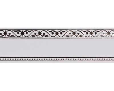 Карниз Монарх белый с хромом 2,0м