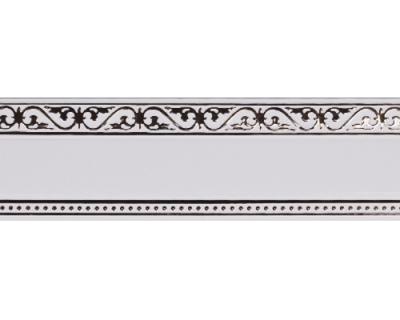Карниз Монарх белый с хромом 2,4м