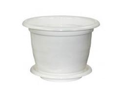 Горшок Виола  5,0л Белый с/п М1343