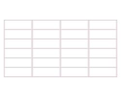 ПВХ панель  мозайка 9*9 Розовый шов 955*480мм