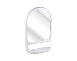 Зеркало с полкой белый 590*390мм М3130
