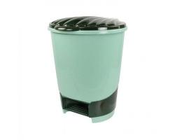 Ведро для мусора с педалью 10л зеленый М1379