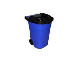 Бак для мусора на колесах  65л синий М4664