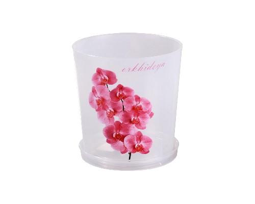 Горшок Орхидея 1,8л Прозрачн. с/п М1604