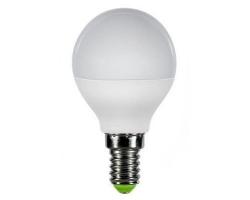Лампа  LED ПРОГРЕСС Шар  5Вт Е14 (Белый свет)