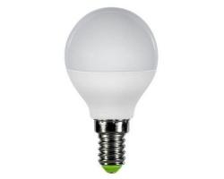 Лампа  LED ПРОГРЕСС Шар  7Вт Е14 (Белый свет)