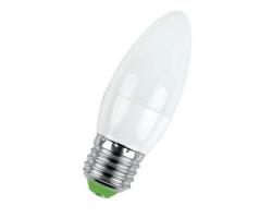 Лампа  LED ПРОГРЕСС Свеча  7Вт Е27 (Белый свет)