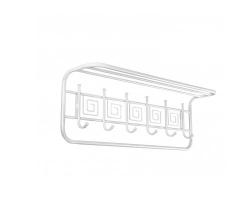 Вешалка с полкой  Ажур 80 см (Белое серебро)