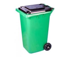 Бак для мусора на колесах 120л зеленый М4603