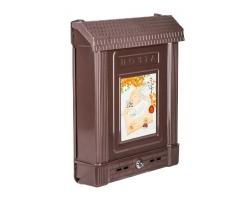 Ящик почтовый пластм. с замком коричневый М6434