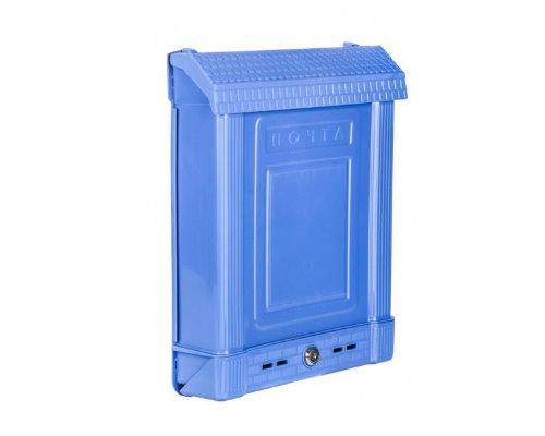 Ящик почтовый пластм. с замком синий М6179