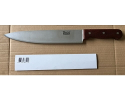 Нож DECO дерев. ручка поварской 25см PW-18/10