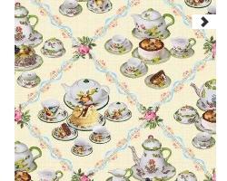 Клеенка DEKORAMA 1,4м 036А коф. посуда на беж