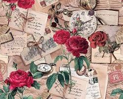 Клеенка DEKORAMA 1,4м 122А розы на беж