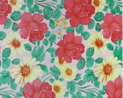 Клеенка КОЛОРИТ ткань 1,3м 161/4 розы на роз