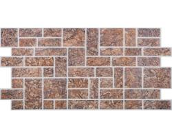 Панель ПВХ 0,4мм камень Пиленый коричневый