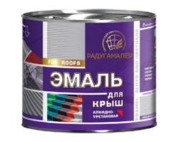 Эмаль для крыш красно-коричневая 1,9кг