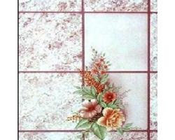 Клеенка КОЛОРИТ ПВХ 1,3м 011/8 цветы клетка борд.