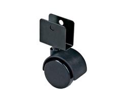 Колесо мебельное черное П-обр. д.50 TWН-50