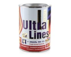 Эмаль ПФ-115 ULTRA LINES голубая  0,8кг