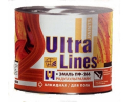 Эмаль ПФ-266 ULTRA LINES желто-коричневая  0,8кг