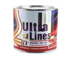 Эмаль ПФ-115 ULTRA LINES черная  1,8кг