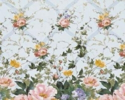 Клеенка DEKORAMA 1,4м 093C цветы на гол