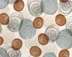 Клеенка DEKORAMA 1,4м 104А серые круги на беж