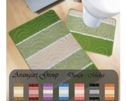 Коврик для ванной Avangart 1пр 60*100см тем.зел.